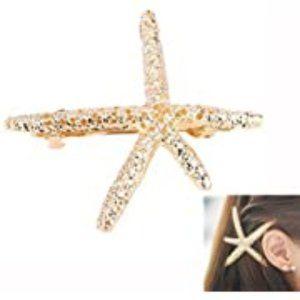 NWOT Gold Starfish Barrette / Hair Clip/ Hairpin